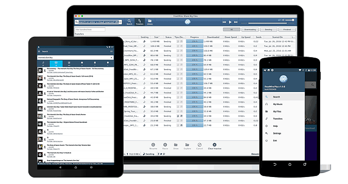 Download FrostWire for PC Windows, Mac, Linux and Android